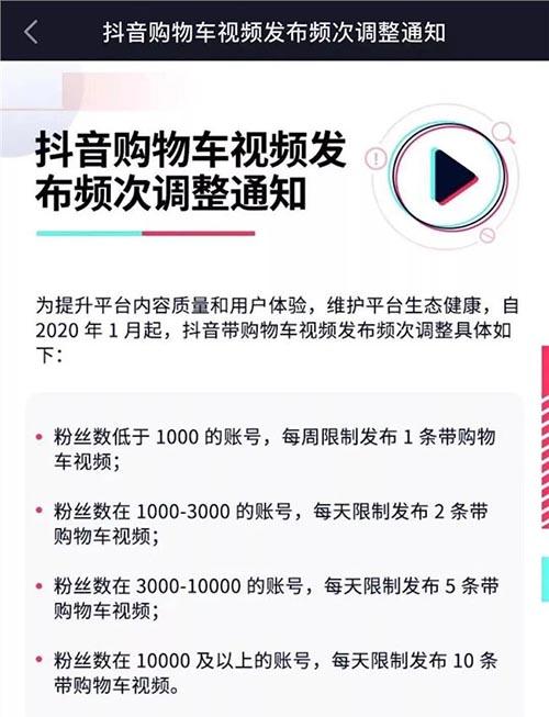 抖音短视频开始对网红带货行为施加严厉限制